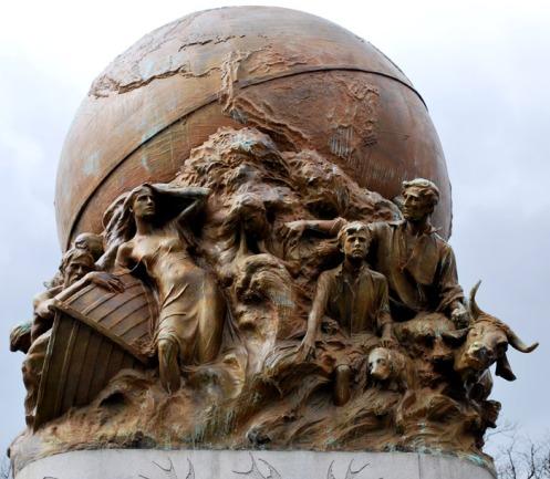 mudflood statue for maury in richmond
